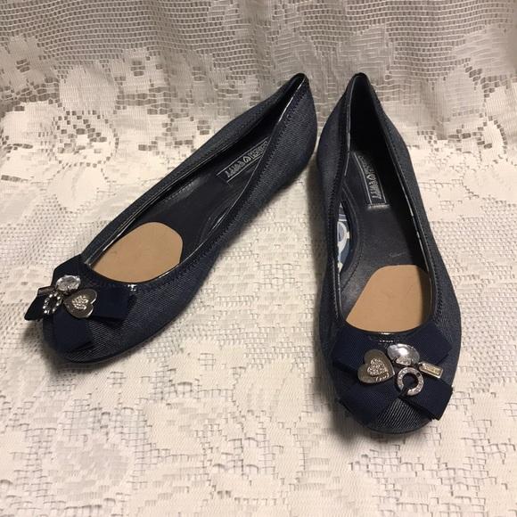 Coach Shoes Poppy Caper Blue Flats 95 Poshmark